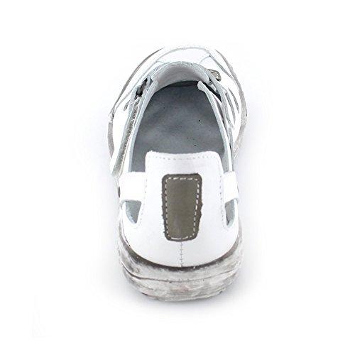 Pantofola Da Donna Estiva Kacper In Pelle Liscia In Bianco 560-174