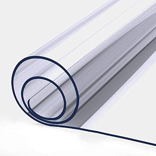 2mm Thick Clear Table Cover Protector Wood Furniture Dining Coffee Glass Marble Tabletop Protection Gaming Desk Mat Table Pad Eco Thick Clear Plastic PVC Wipeable Square Vinyl Tablecloth 60 x 60 Inch (Desk Protector Glass)