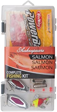 Shakespeare Catch More Fish Salmon Box Kit with Tackle Management Tools and Equipment