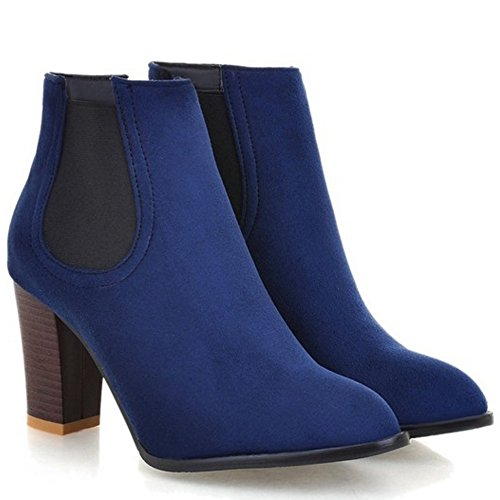 Boots Autumn Blue Slip KemeKiss Women On 8vaq61Px