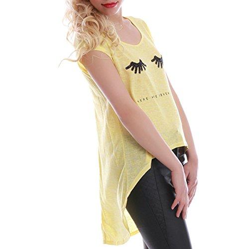 La Modeuse - Camiseta sin mangas - para mujer amarillo