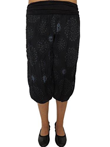 10 Farben zur Auswahl Größe 42-54 Kurze Damen Pumphosen Schwarz