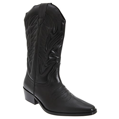 Gringos - Botas estilo oeste cowboy de caña alta modelo Clive para hombre Marrón oscuro