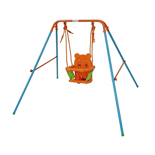 GALAXY Swing Metal Portable Toddler Baby Swing OUTDOOR INDOOR use ORANGE
