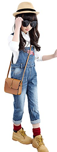 AvaCostume Girls Adjustable Straps Overalls