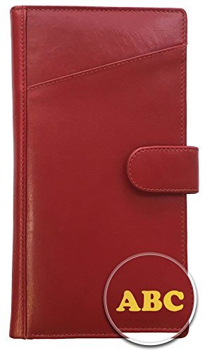 72436cdc89f9 Personalized Monogrammed Leather RFID Travel Wallet