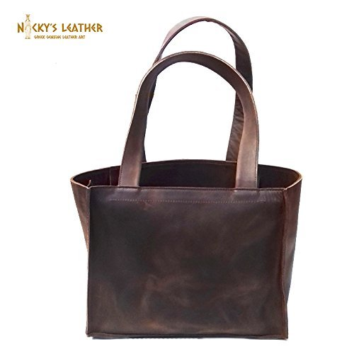 LEATHER TOTE BAG from Real Full Grain Leather 100% Handmade