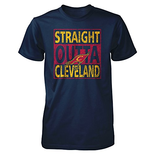 Tee Zone Straight Outta Cleveland City Mens T Shirt  Xl  Navy