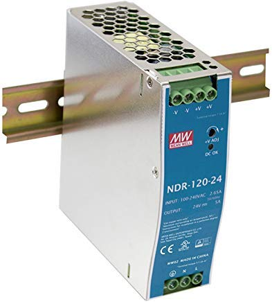 (MW Mean Well NDR-120-24 24V 5A DIN Rail Power Supplies)
