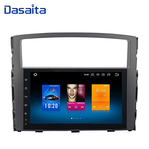 Dasaita Android 7.1 Car Stereo for Mitsubishi Pajero Gps Navigation Radio with 9 Inch Screen 2G Ram and HDMI Output Head Unit Black Friday For Sale