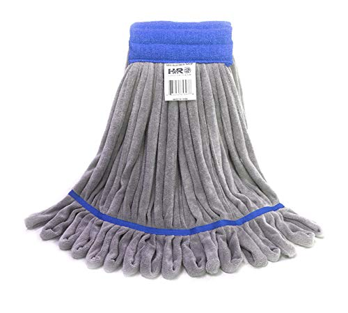 Hero Mop Head Replacement, Commercial Mop, Microfiber Mop Head with Nylon Scrubbing Pad (Blue)