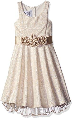 Bonnie Jean Little Girls' Lace Party Dress, Ivory, 6