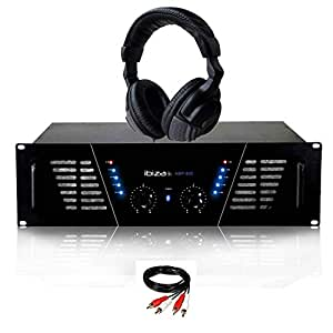 Amplificador sono DJ 2 x 600 W max Ibiza Sound AMP-800 + auricular ...