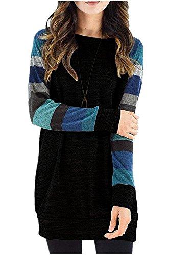 blue and black striped dress - 9