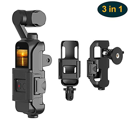 3 in 1 Tripod and Action GoPro Mount Stand Bracket for DJI Osmo Pocket, Action Cam Mount with Tripod Mount Adapter and Screw Adapter, Expansion Accessories Kit Connect to Tripod and GoPro
