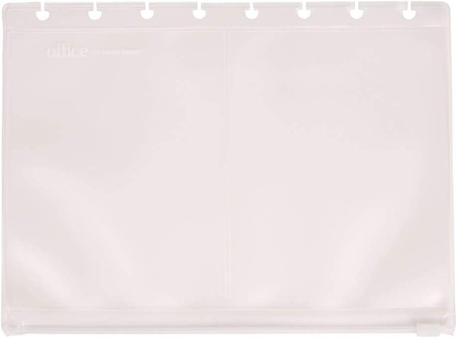 Office by Martha Stewart 2094534 Discbound Zip Pocket Clear Junior Size (29587)
