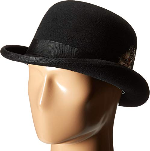 STACY ADAMS Men's Wool Derby Hat, Black, X-Large -