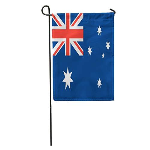 (Semtomn Garden Flag Australian Australia Flag Emblem Graphic Southern Cross Symbol Home Yard House Decor Barnner Outdoor Stand 12x18 Inches Flag)