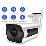 SDETER WiFi IP Wireless Security Camera, Two-Way Audio Waterproof Bullet Cam with Cloud Service Motion Detection for Indoor Outdoor Review