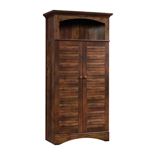 (Sauder 423661 Harbor View Storage Cabinet, Curado Cherry Finish)
