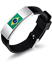 VANKER Pulsera Silicona Nacional para Fútbol Fan Bracelet Pulsera Cheerleading Diseño Unisex, Pulseras Suaves y duraderas, no tóxicas
