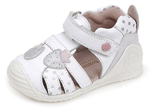 Biomecanics Mädchen 172137 Sandalen, Weiß Verschiedene Farben (Weiß / Pünktchen bedruckt )