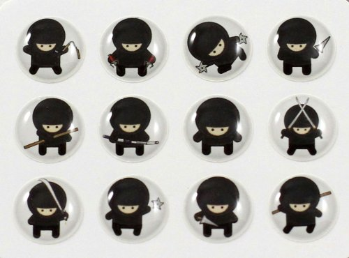 a Style 12 Pieces Home Button Stickers for iPhone 5 4/4s 3GS 3G, iPad 2, iPad Mini, iPod Touch ()