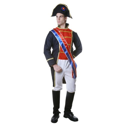 America Covers Boot (Dress up America Realistic Napoleon Costume Set with Long Tailcoat Jacket/ Trousers/ Belt/ Hat/ Boot Cover and Sash (XL) by Dress Up America)