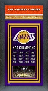 Los Angeles Lakers Framed Championship Banner by NBA