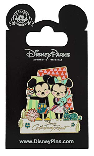 - WDW Trading Pin - Contemporary Resort - Mickey and Minnie - Mary Blair Mural