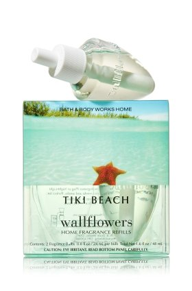 Bath & Body Works Wallflowers Home Fragrance Refill Bulbs 2 Pack Tiki (Beach Tiki Bath)