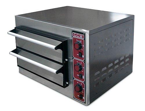 Goo Gastro go3188g gewerbe Pizza Horno 4 + 4 x 25 cm Pizza del ...