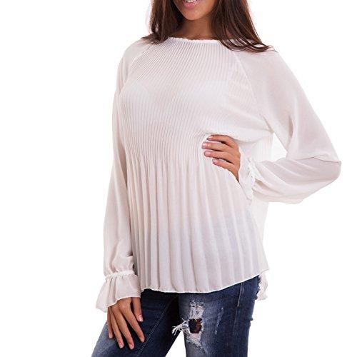 Toocool - Camiseta de manga larga - para mujer blanco