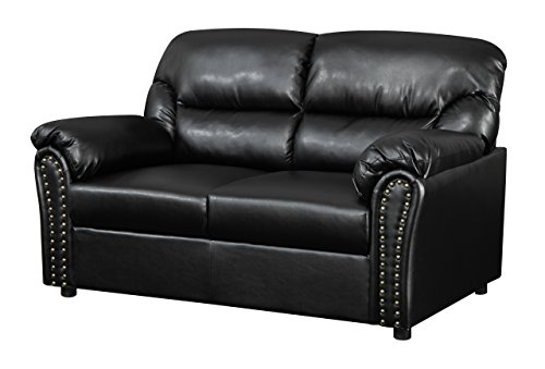 Glory Furniture G263-L Living Room Love Seat, Black