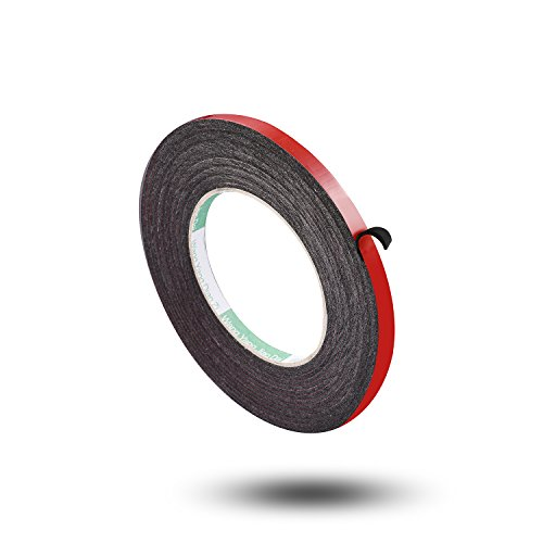 Aweking Double Sided Sponge Tape 2mm Thickness 8mm x 5m, Water Resistant,Shock Absorbing,Sound Deadened Insulation,Dust Sealing,Fixed,Red
