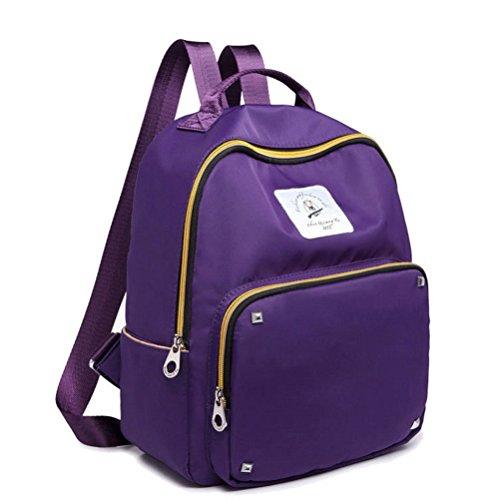 Randonnée Nylon Femme Daypacks Randonnée Violet de AalarDom Daypacks de Clouté Z8UFq5WHT