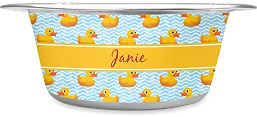 RNK Shops Rubber Duckie Stainless Steel Pet Bowl - Large (Personalized)