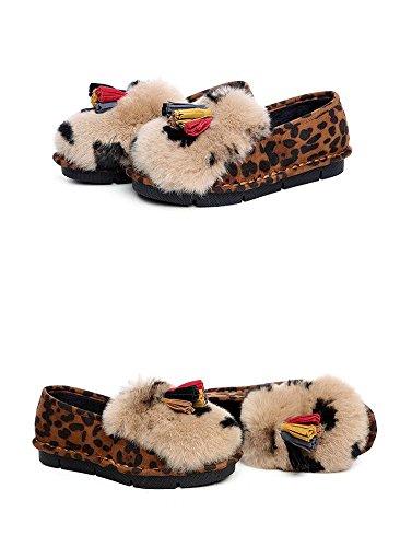 35 mocassini 120W Inverno LEOPARD donna Leopard nappa OqZx11Bw87