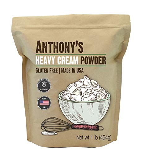 Anthony's Heavy Cream Powder (1lb), Batch Tested Gluten-Free, Made in USA, No Fillers or - Chantilly Chocolate