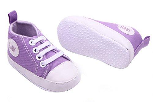 Smile YKK Baby-Mädchen Segeltuch Sandalette Lauflernschuhe 11 Lila Lila