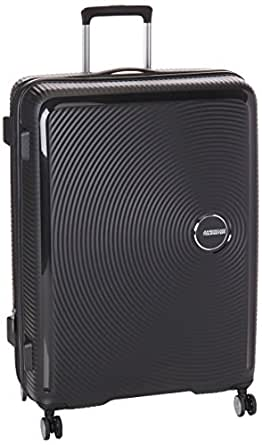 American Tourister Curio 80cm Spin Case Hard Suitcase Luggage Black,White,Pink Large