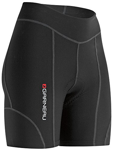 Louis Womens Shorts - Louis Garneau Women's Fit Sensor 5.5 Bike Shorts, Padded and Breathable, Black, Medium