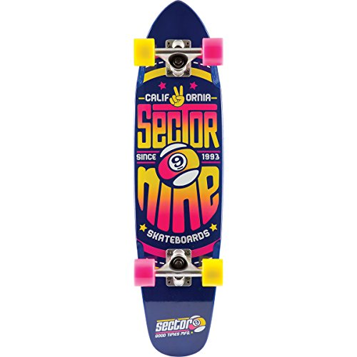 Sector 9 The Wedge Complete Skateboard, Blue