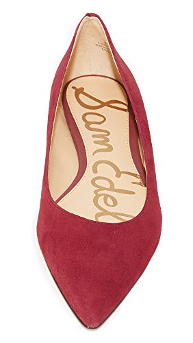 Tango Flat Red Women's Sam Toe Edelman Pointed Suede Rae WAwpq7