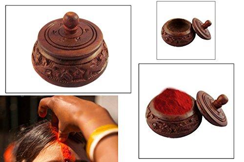 Wooden Kumkum Box, sindur Dabbi ,aarti thali decoration Dabbi,Thanks Giving or Christmas Gift