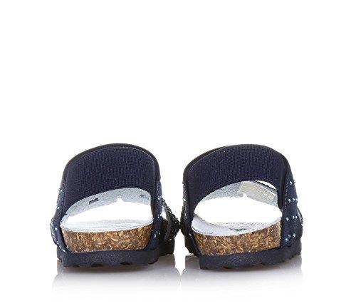 BioNatura Blaue Sandale, ausschließlich Made in Italy, Aus Hochwertigen und allergiegetesteten Materialien, Mädchen