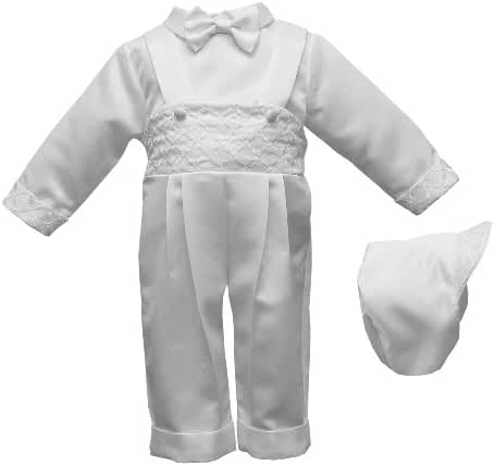 Lauren Madison Baby-Boys Newborn Three Piece Satin Long Pant Outfit Set