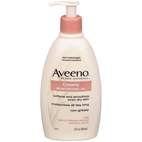 Aveeno Active Naturals Creamy Moisturizing Oil 12-Ounce Pump Bottles (Pack Of 3) by Aveeno by Aveeno