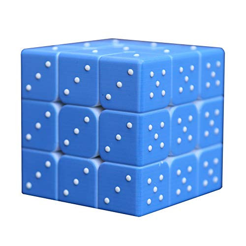 - Speed Cube 3x3x3 3D Relief Effect Braille Magic Cube Puzzle,IQ Games Puzzles Special for Blind, 5.6cm