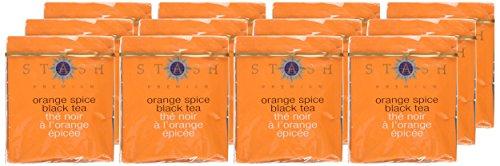 Stash Tea Orange Spice Black Tea 10 Count Tea Bags in Foil (Pack of 12) (packaging may vary) Individual Black Tea Bags for Use in Teapots Mugs or Cups, Brew Hot Tea or Iced Tea by Stash Tea (Image #1)